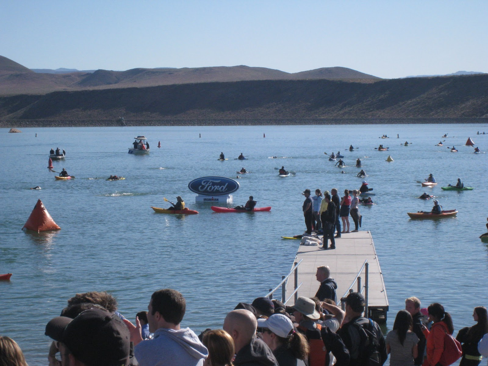 Utah open water impressions of ironman st george for Sand hollow swimming pool st george