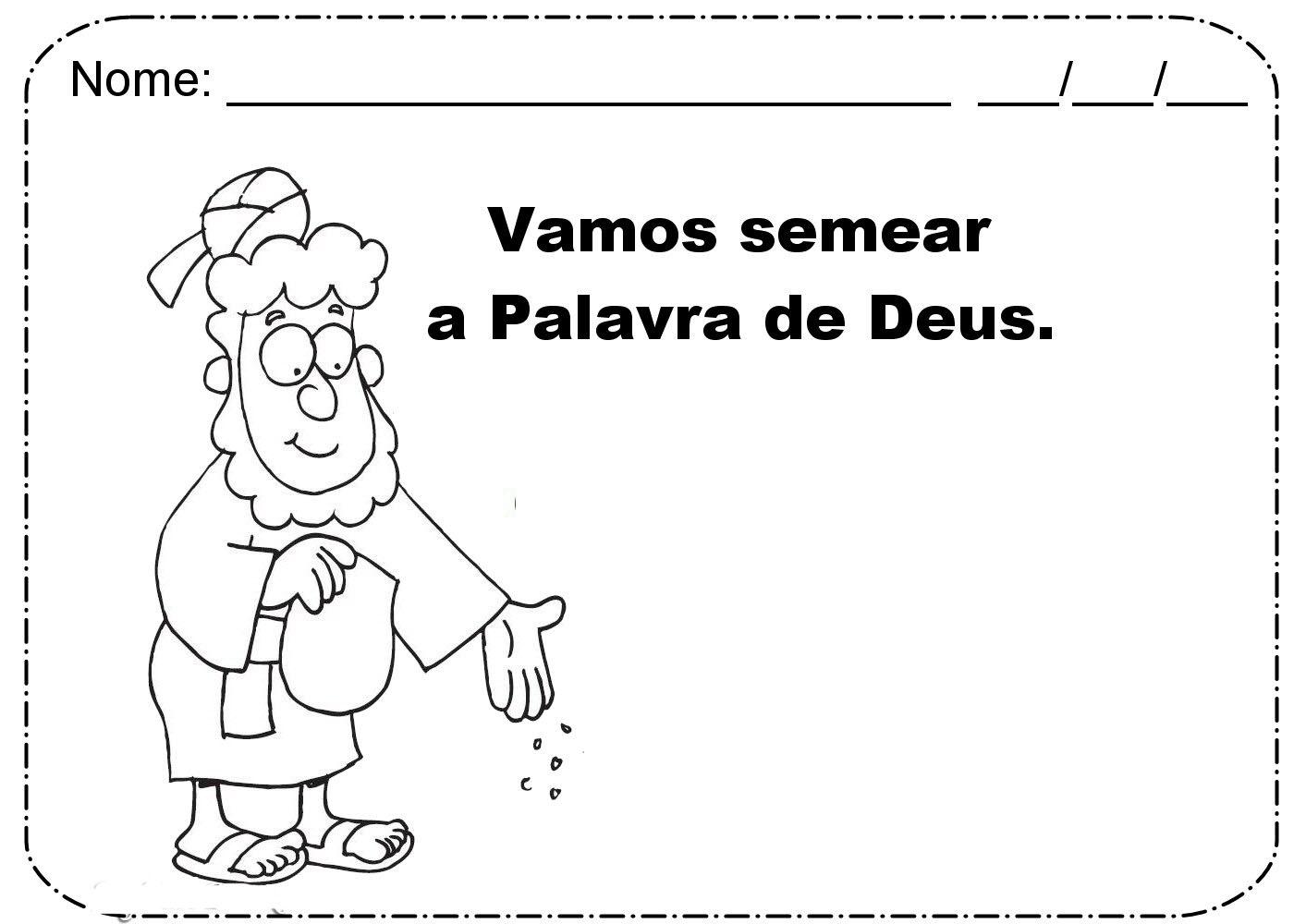 Famosos PARÁBOLA - O SEMEADOR | ´¯`··._.·Blog da Tia Alê FG78