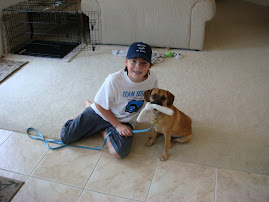 "Thomas Richards and JD ""the wonder dog"""
