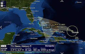 Florida Atlantic Storm and Hurricane Track for Daytona Beach and Florida