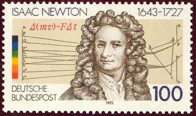 Estampita de Isaac Newton
