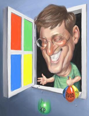 Caricatura de Bill Gates