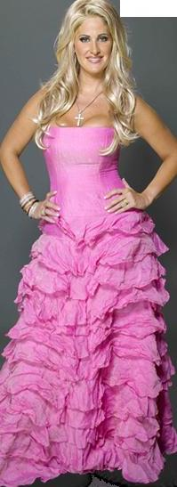 Kim Zolciak con hermoso vestido largo