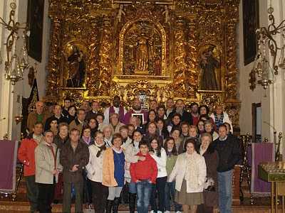 Grupo de peregrinos en Montilla