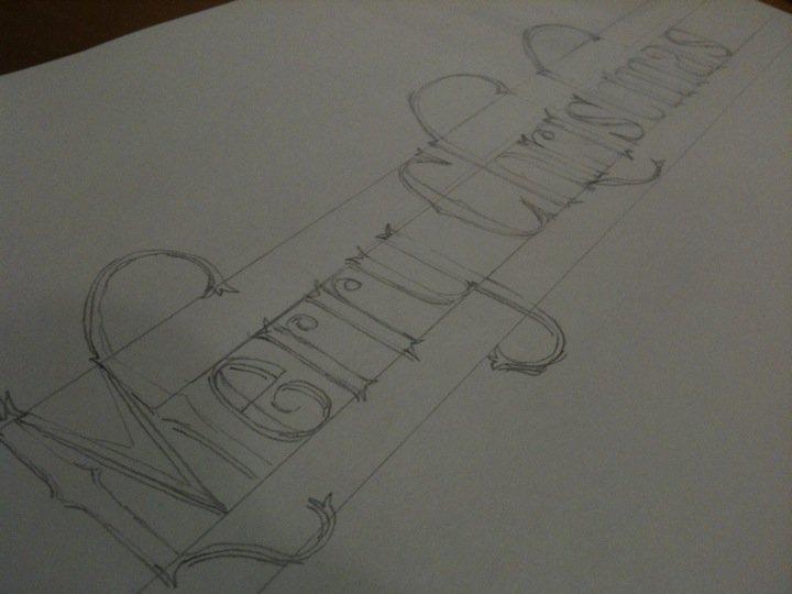 Blended ideas blogspot christmas card hand drawn type progress