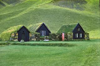 Turf-Roofed Icelandic House
