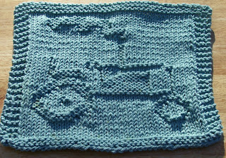 Knitting Pattern With Tractor Motif : DigKnitty Designs: Tractor Knit Dishcloth Pattern