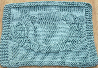 Knit Dishcloth Pattern Horse : DigKnitty Designs: Horseshoe Knit Dishcloth Pattern