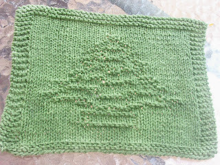 DigKnitty Designs: Tree (Christmas) Knit Dishcloth Pattern