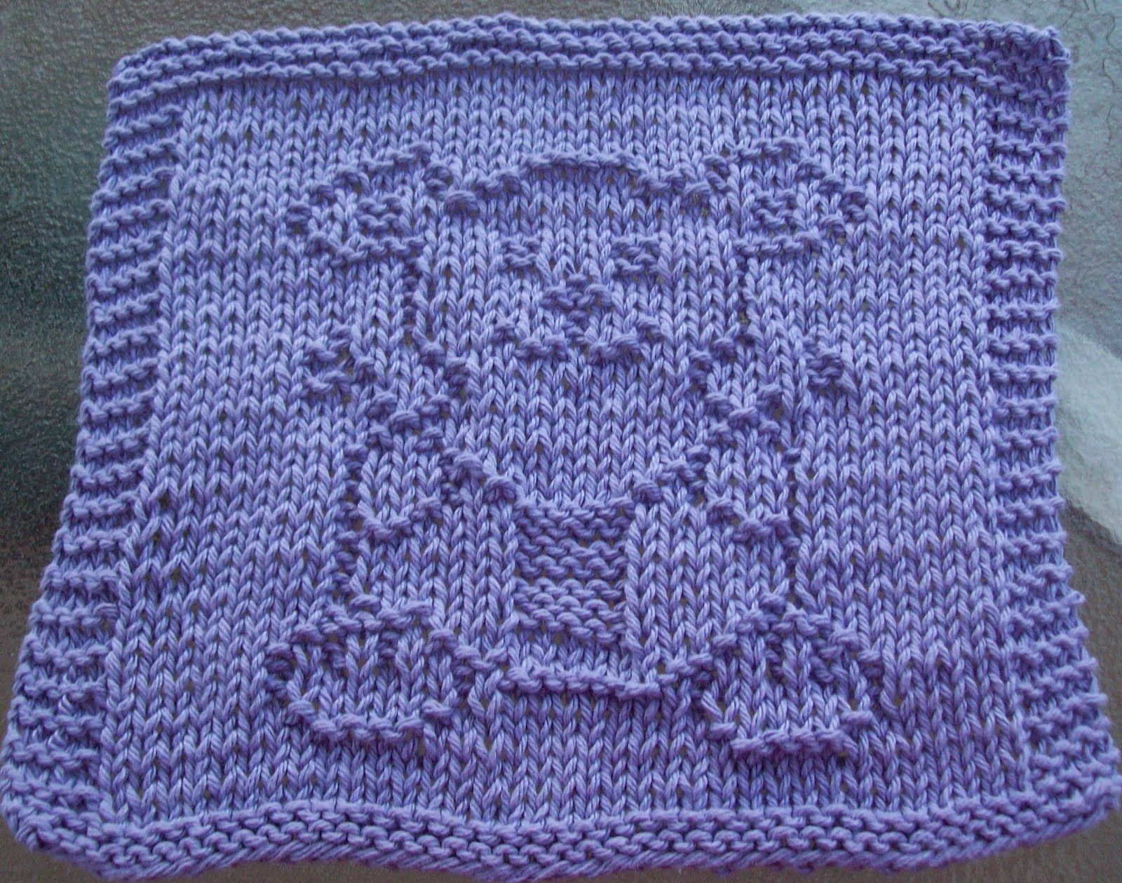 Knitted Dishcloth Patterns : DigKnitty Designs: Bear Knitting Knit Dishcloth Pattern