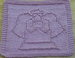 DigKnitty Designs: Folk Art Angel Knit Dishcloth Pattern