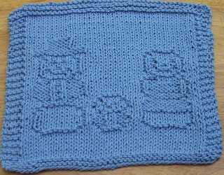 Free Knitted Dishcloth Patterns Snowman : DigKnitty Designs: Snowman Family Knit Dishcloth Pattern
