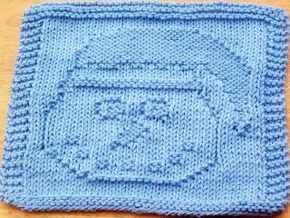 Free Knitted Dishcloth Patterns Snowman : DigKnitty Designs: Snowman with Santa Hat Knit Dishcloth Pattern