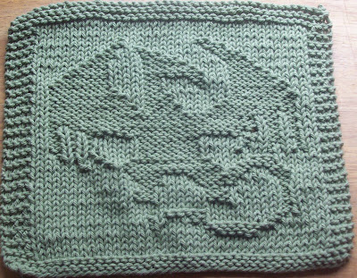 Digknitty Designs Winged Dragon Knit Dishcloth Pattern