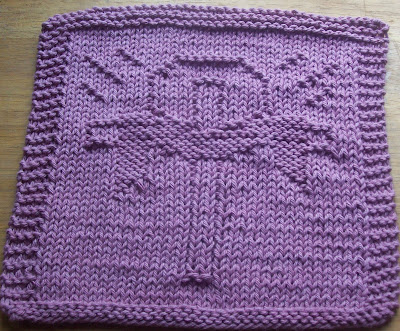 Knitted Dishcloth Patterns For Easter : DigKnitty Designs: Cross with Cloth Knit Dishcloth Pattern