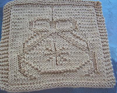Digknitty Designs Christmas Ornament Knit Dishcloth Pattern