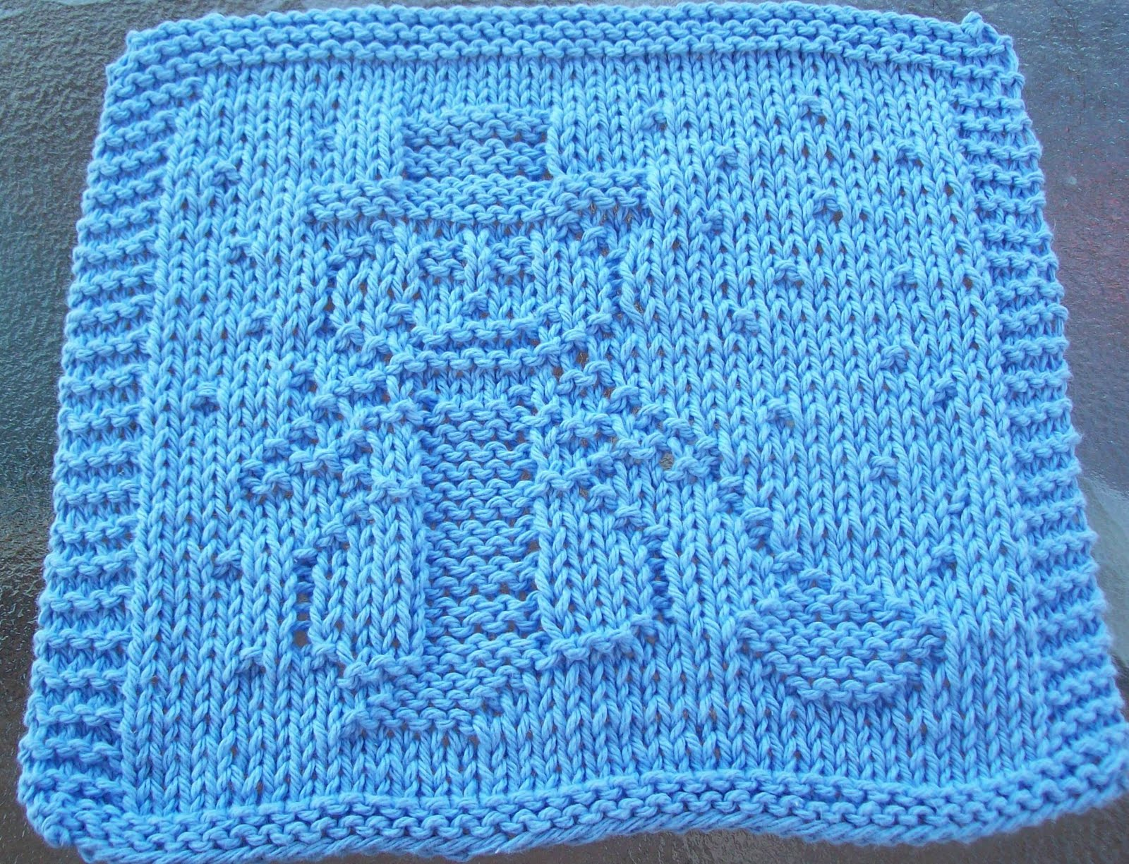 Dish Cloth Knitting Pattern : Knitting Dishcloth Patterns Fish