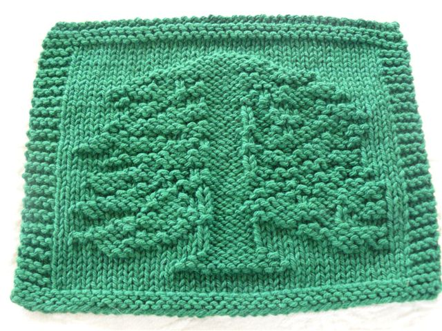 Free Knitting Pattern Tree Dishcloth : DigKnitty Designs: Redwood Tree Knit Dishcloth Pattern