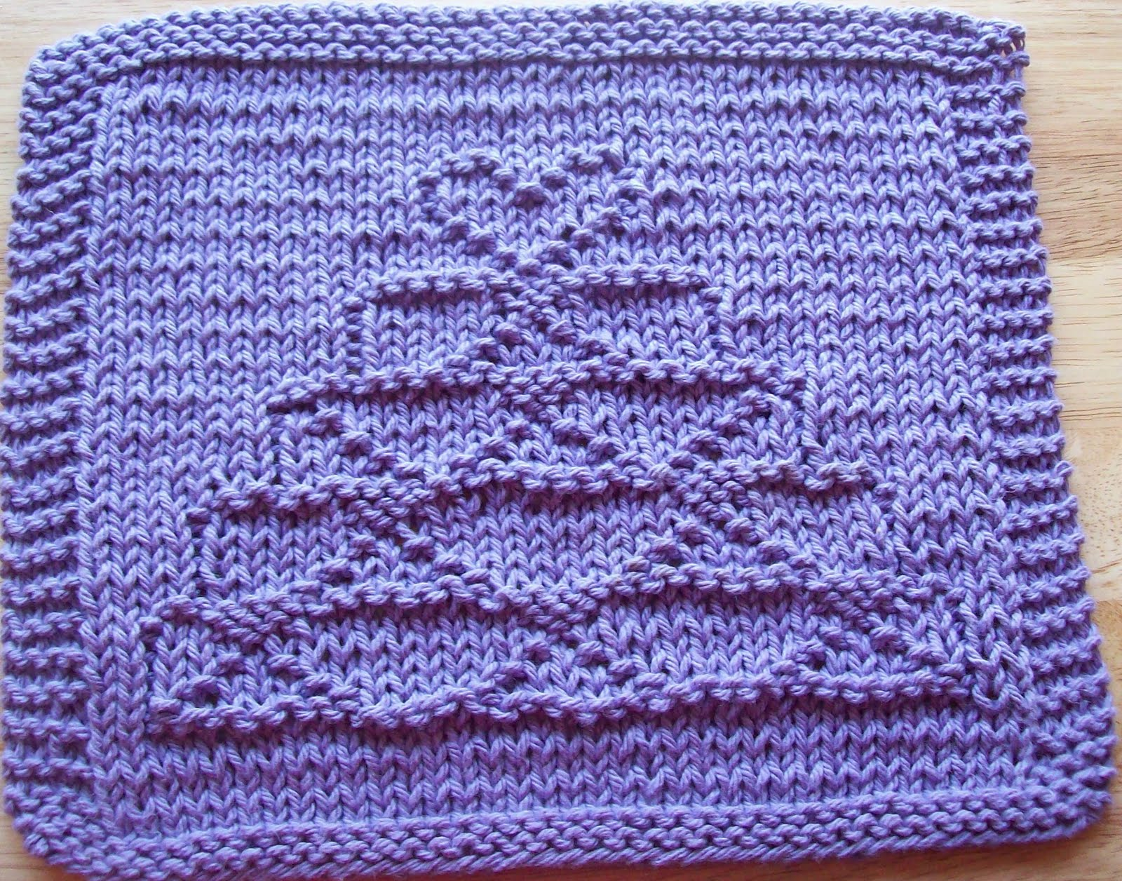 Knitted Dishcloth Patterns Wedding : DigKnitty Designs: Another Wedding Cake Knit Dishcloth Pattern