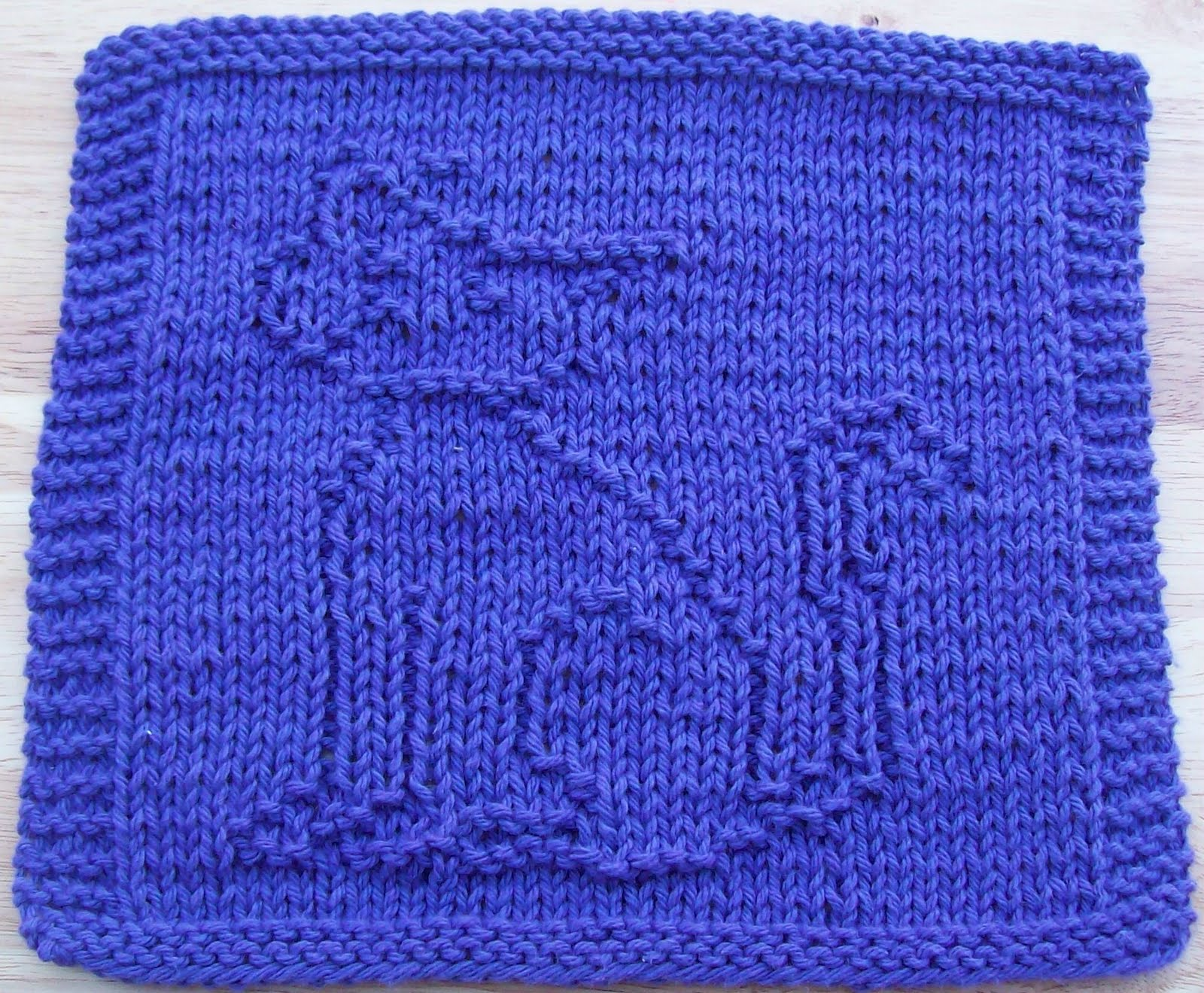 Knitted Dalek Pattern : DigKnitty Designs: Cool Cat Knit Dishcloth Pattern