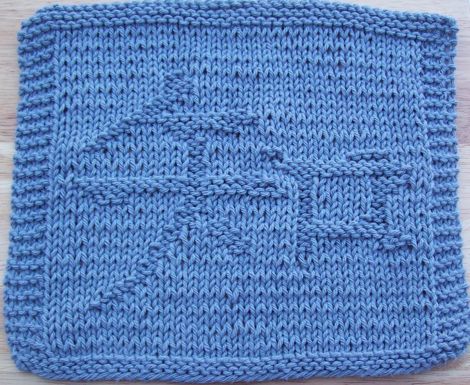 Chinese Knitting Patterns : DigKnitty Designs: Chinese Knowledge Knit Dishcloth Pattern