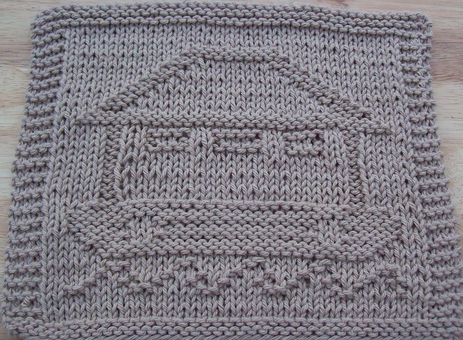 DigKnitty Designs: Noahs Ark Knit Dishcloth Pattern