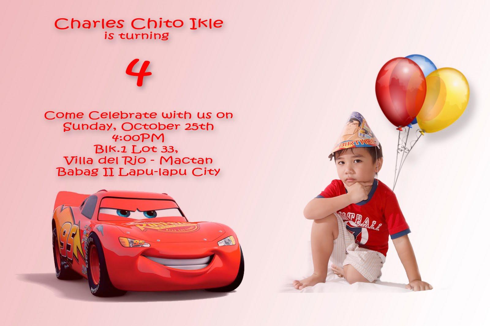 Birthday Card Cars Theme