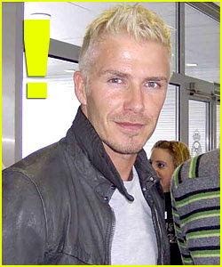 David Beckham As A Blonde
