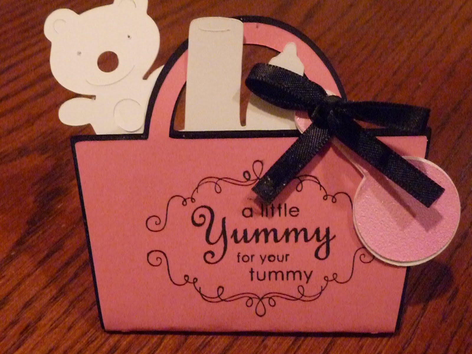 Baby Shower Favors Using Cricut ~ Cricut craftin terry diaper bag baby shower favors
