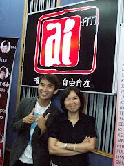 2009年7月31日 和aiFm DJ陈国俊摄于录音室