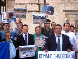 Protest against ethnic profiling of Roma in Italy