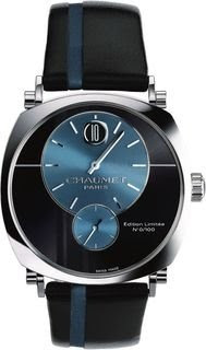 Montre Dandy Chaumet heure sautante or gris