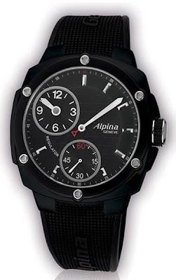 Montre Alpina Extrême Régulateur 48mm PVD noir