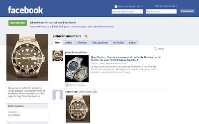 Facebook Fan Page de J'aime les Montres