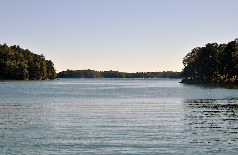 Creating in carolina time at the lake keowee during labor for Lake keowee fishing