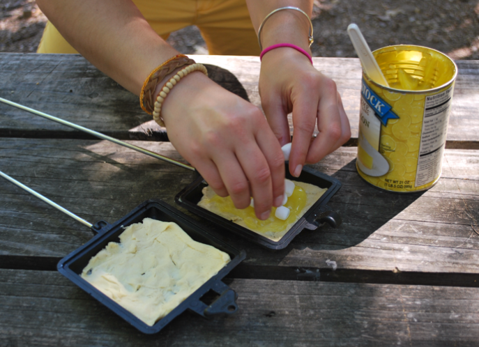 Cara ansley lemon meringue campfire for Pie iron recipes with crescent rolls