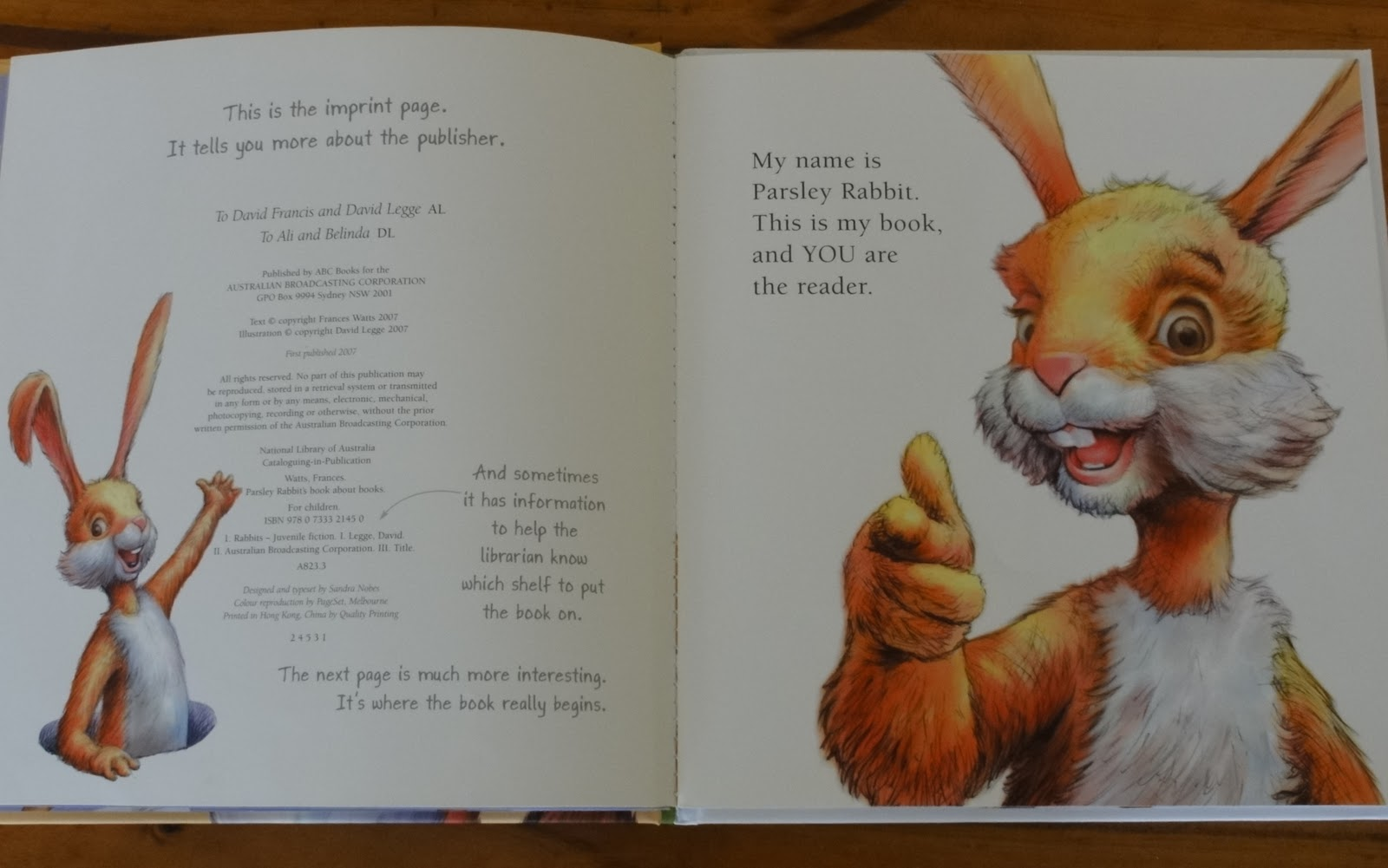 rabbits picture book essay He took the velveteen rabbit with him he was able to sit up in bed and look at picture-books, while the little rabbit cuddled close at his side.