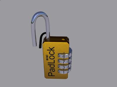 3d code mini padlock
