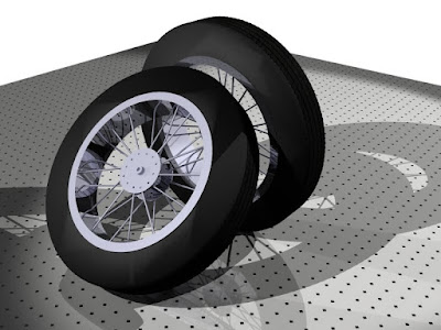 3d tire with radius