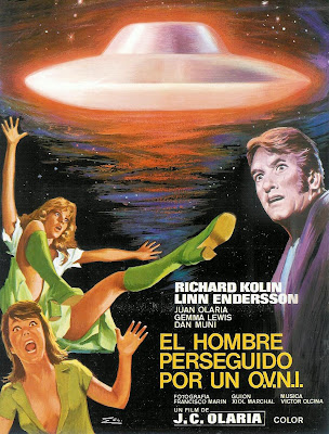 El Hombre Perseguido por un Ovni (Poster-Cartel)