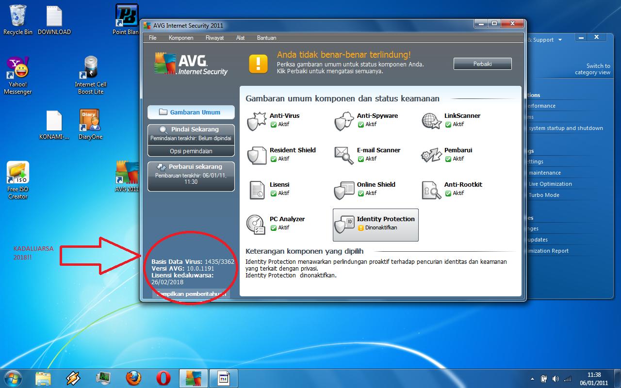 AVG Internet Security 2011 License - valid untill 2018