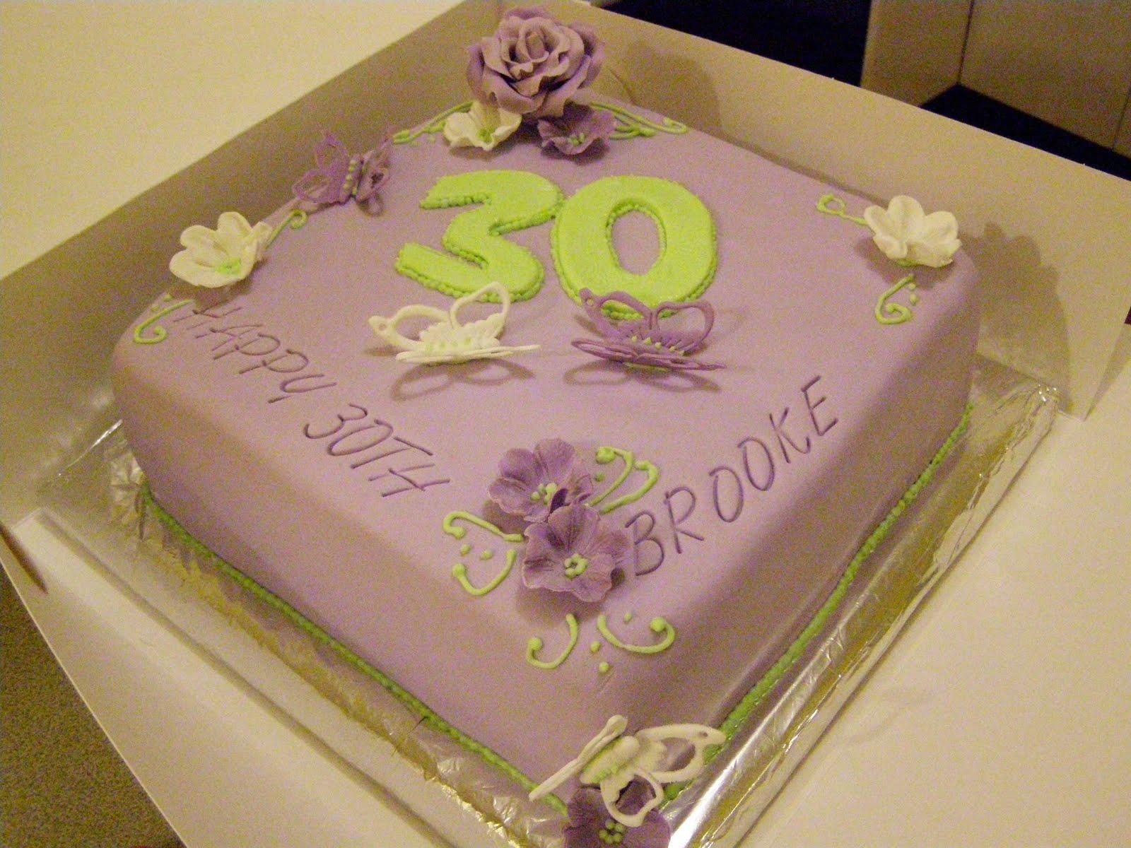 Sweet Mummas Cupcakes Brookes 30th Birthday Cake