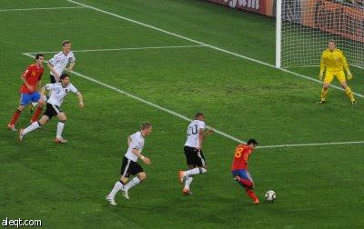 الهدف الاسباني على المانيا في كأس العالم 2010