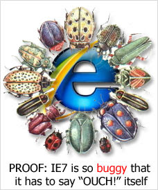 IE7: A little over a year. Lots of CSS bugs. Still no bug tracking.