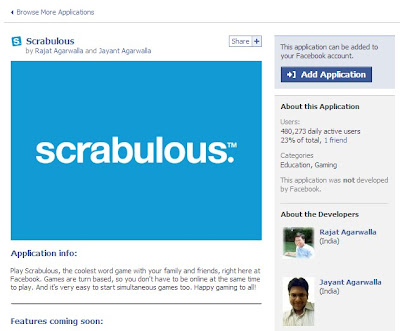 Scrabulous on FaceBook