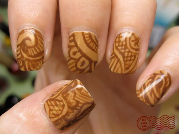 Mehndi Designs For Nails : On the mehndi daily nail