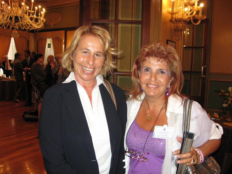 tavola rotonda .. 31a, la Vice ministro S. Craxi con la direttrice de il sanremese 5/9/2008