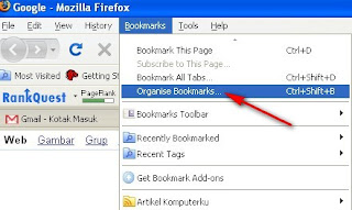 Mulai Backup Bookmark Firefox