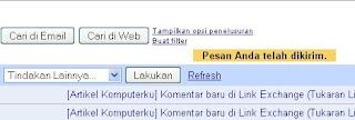 pesan Gmail Sukses