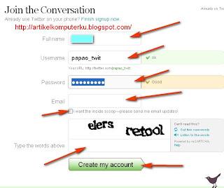 form daftar twitter